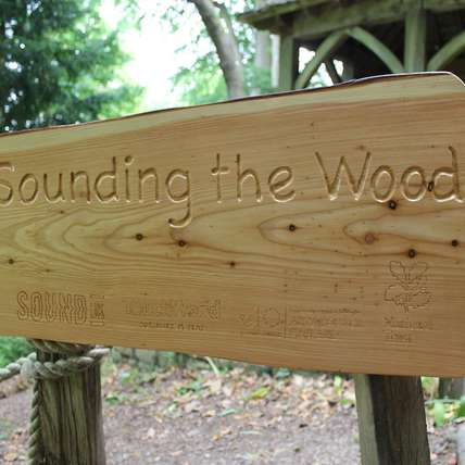 sounding the wood sign